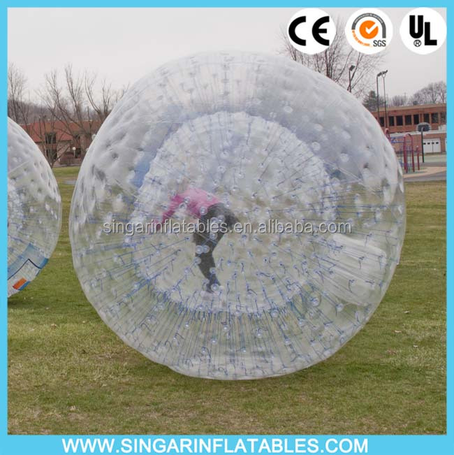 Inflatable grass /hill rolling ball, roll inside inflatable ball person inside