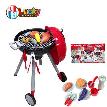 Whole Preschool Funny Barbecue Grill Kitchen Tool Kids Bbq Set Toy For Outdoor Play