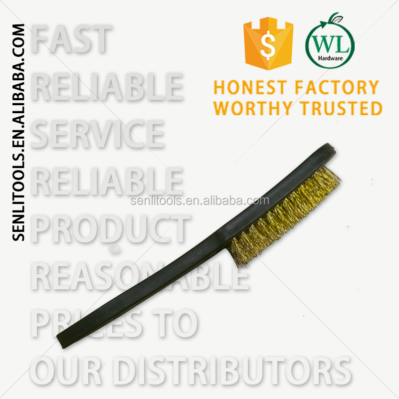 Stainless Steel Fill Wire Brush with black Plastic Handle