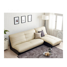 Classic Wood Frame Leather Material And Home Furniture General Use Modern Sofa