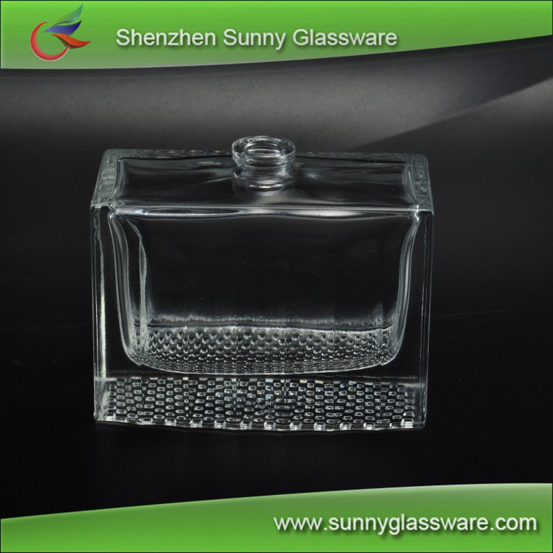 100ml lain cologne square glass perfume bottle with closure