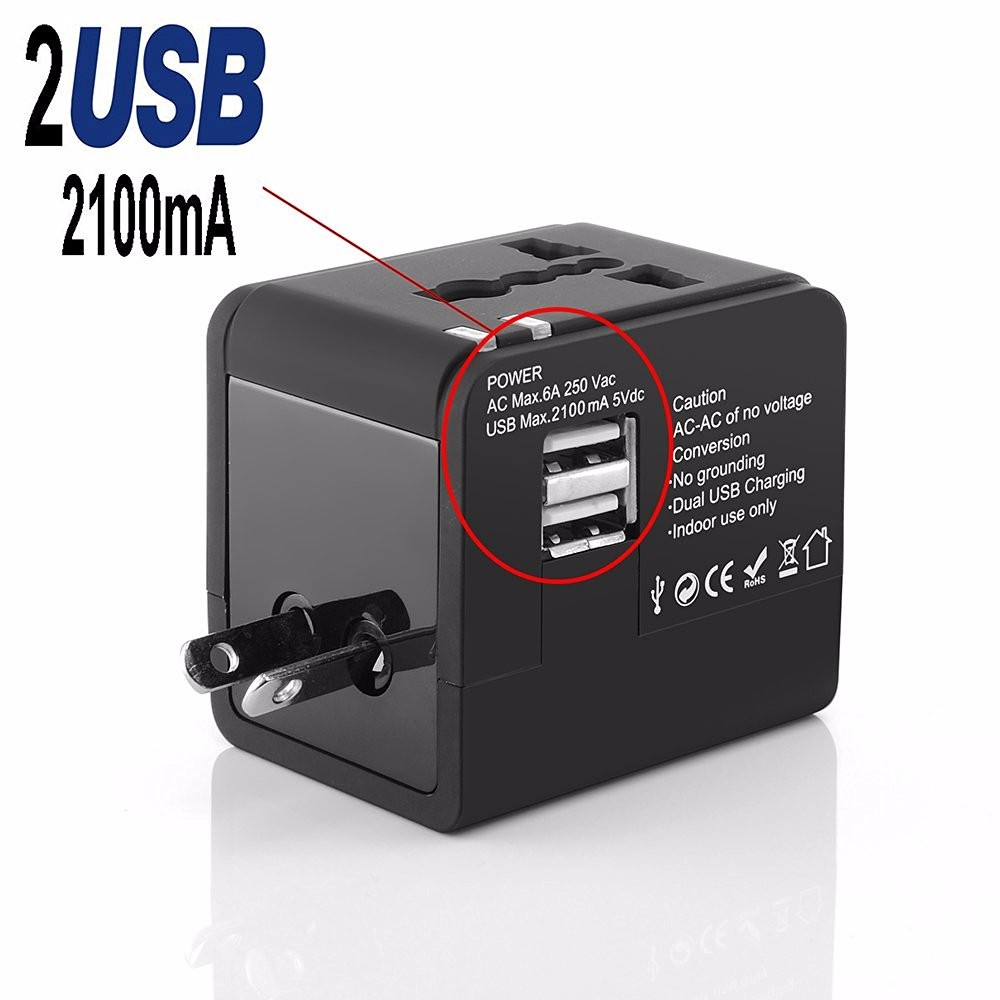 Travel adaptor Dual USB Charger universal portable cell phone charger speed starting usb charger