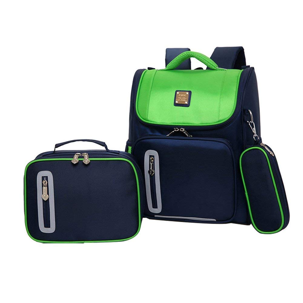 35128ca37331 Get Quotations · Kids Backpacks for School Bags for Boys Girls Bookbags and  Pencil Lunch Box HHui (Green