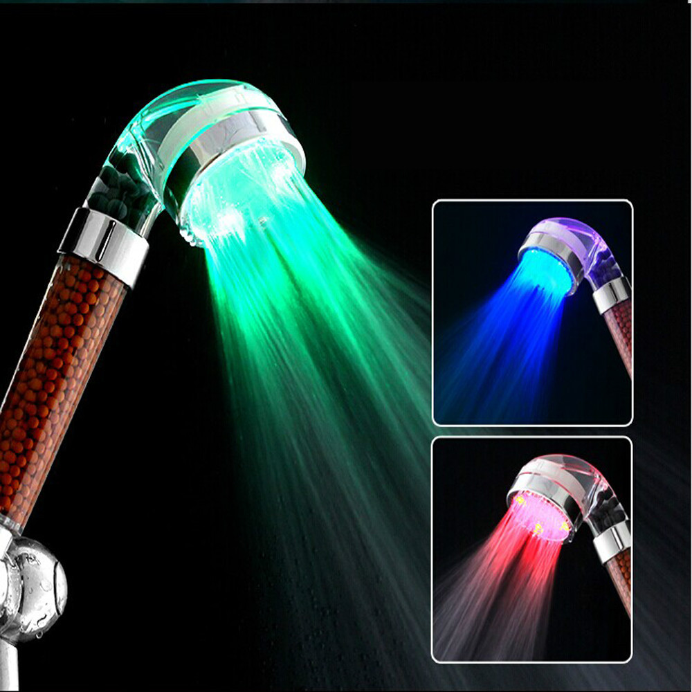 Smart Life PC Metarial Lighted Massage Led Shower Head