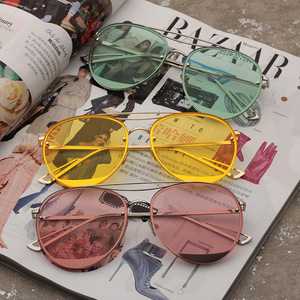Personality metal marine film candy color sunglasses
