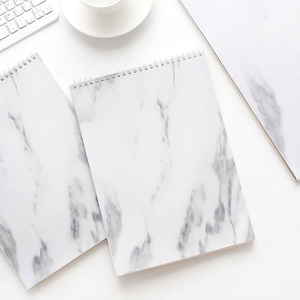 Modern marble white ring binder A4 A3 note pad sketch paper for office school