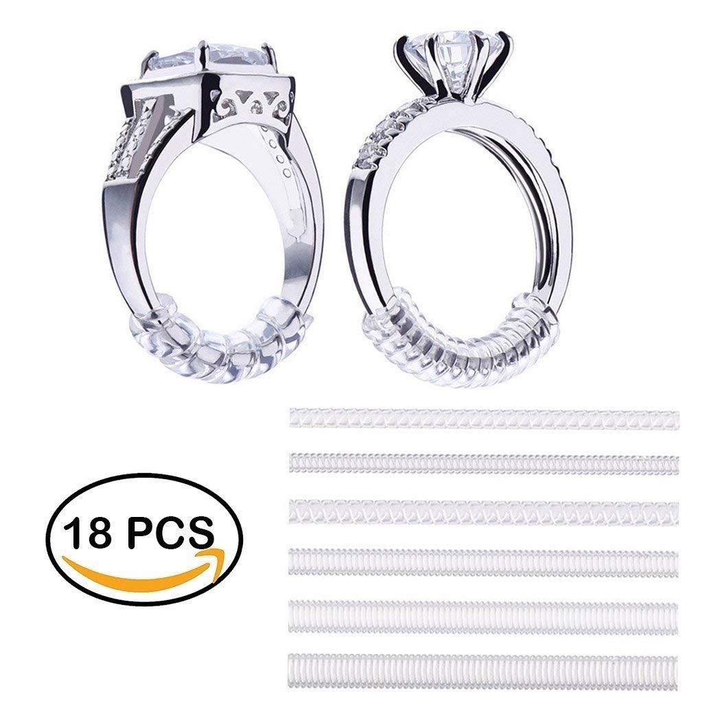 edb85bc8017dd Buy HoLeis 18 PCS Ring Guard Sizer Size Adjuster Reducer Spacer ...