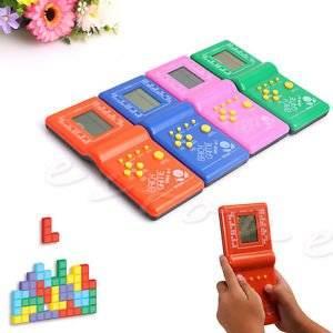 1Pc Retro LCD Game Electronic Vintage Tetris Brick Handheld Arcade Pocket Toys