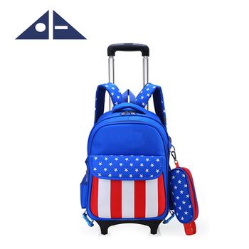 Children S Wheeled School Bag For Boys Girls Kids Trolley Backpack Buy Trolley School Bag Trolley Backpack Kids School Bag With Wheels For Girls