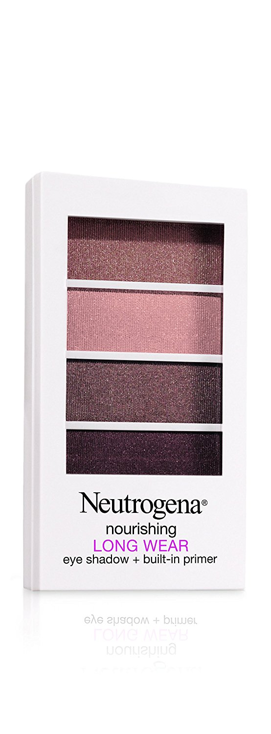 Neutrogena Nourishing Long Wear Eye Shadow + Built-In Primer, 40 Cocoa Mauve, .24 Oz.