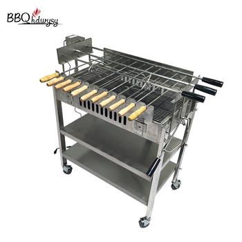 Stainless Steel Cyprus Grill Skewer Portable Rotisserie Grill Top Charcoal Grills
