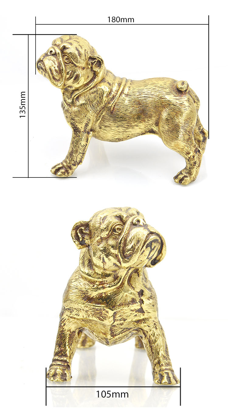 Wholesale Cast Small Large Sculpture One Piece Custom Antique Gold Table Home Decor Dog Bronze Statues