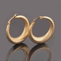 Big Round Hollow Earrings Trendy Silver Fashion Jewelry Wholesale Large Stainless Steel Hollow Hoop Earrings Women EHE076
