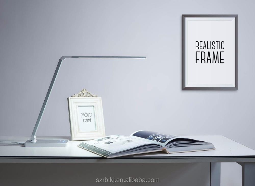 Nouveau design tactile dimmable led lampe de bureau avec pince ou