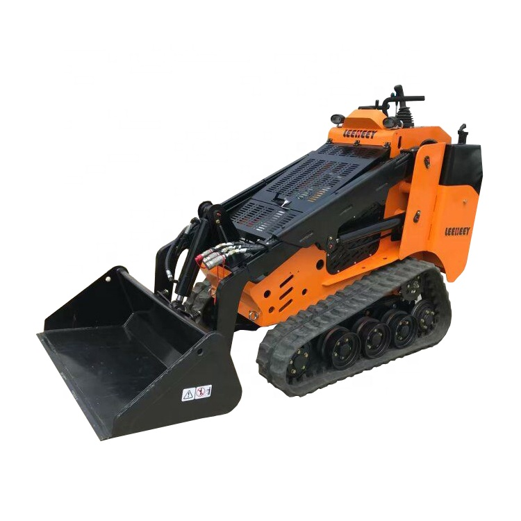 China CE Certificated 400kg Rated load Skid Steer Mini Wheel Loader LH527 with 4 in 1 Bucket