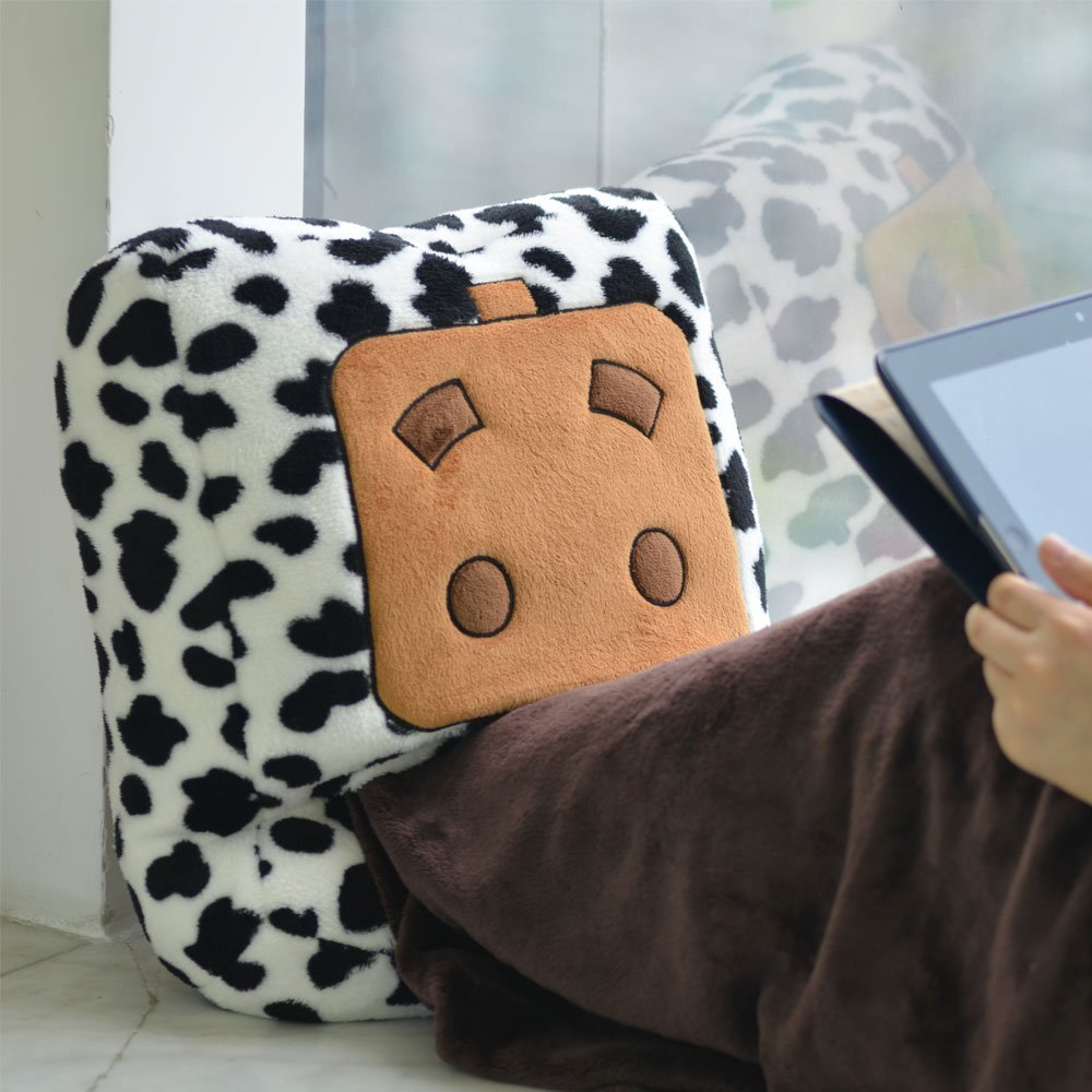 Get Quotations · Seadream Multifunctional USB Mr. Box Foot Warmer Blanket  USB Plush Slipper Pilow (cow stripe 0ad5f6b83