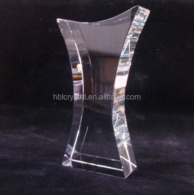 2014 fashion blank crystal trophy