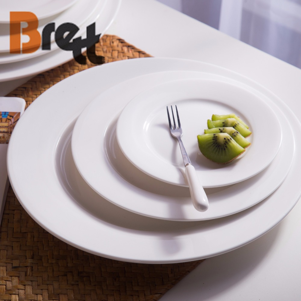 Catering wholesale ceramic white dinner <strong>plate</strong> for restaurant bone china weddings