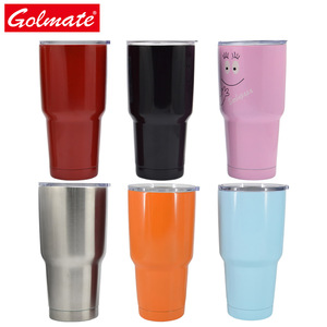 Vacuum insulated stainless steel water mug coffee tumbler
