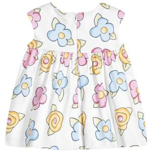 bangladesh wholesale clothing baby girl dresses summer Girls White Floral Print Dress