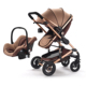 2018 New Baby Pushchair Lightweight Baby Stroller Foldable Pram Buggy Luxury Baby Stroller 3 in 1 Pram