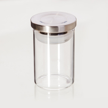80ml/2.7oz 1.85x2.76inch Round Shape Food Savers Food Storage Containers with Airtight Stainless Steel Lid Seal