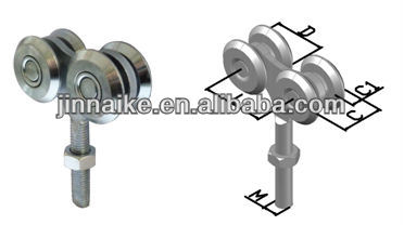 Cast steel pulleys sliding gate roller industrial gate fittings