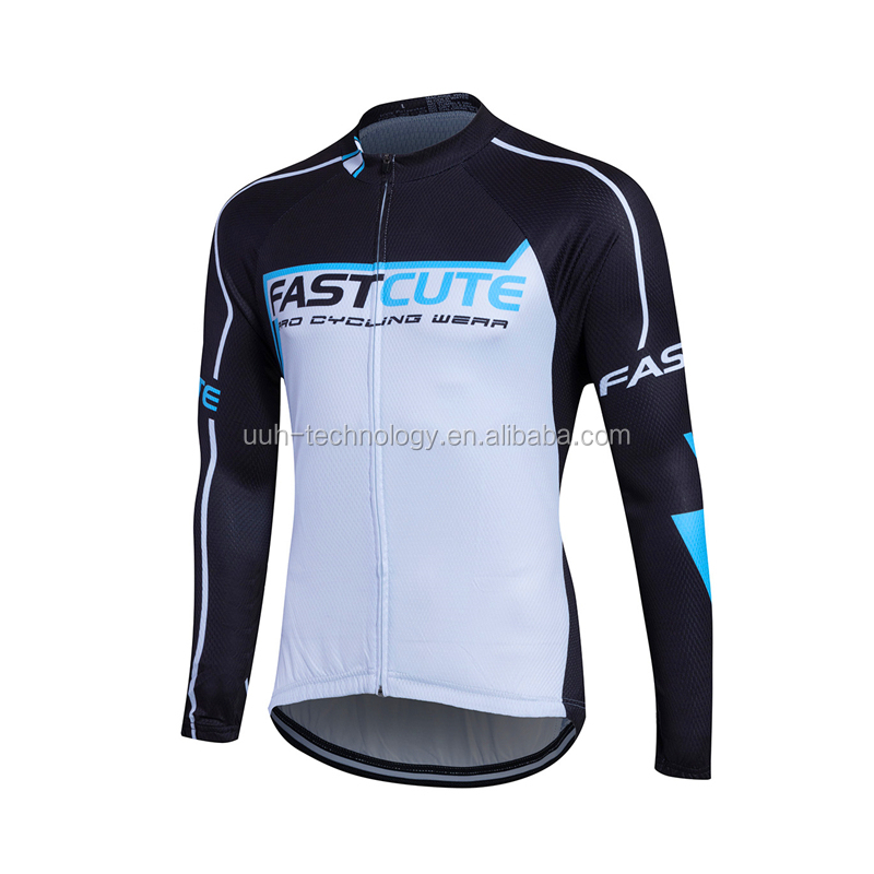 Fastcute funny cycling jersey autumn long sleeve men's bike jersey