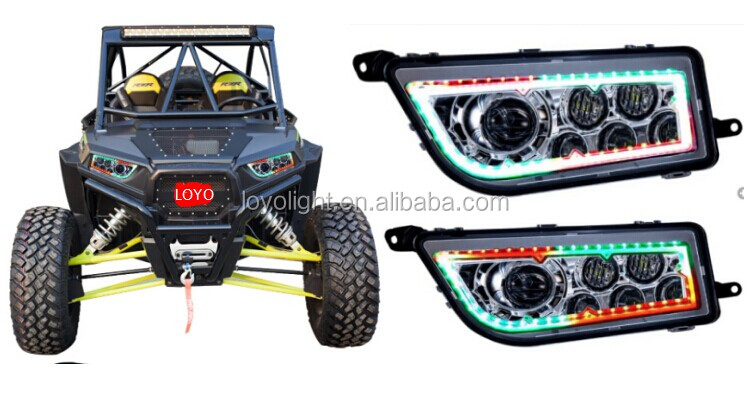 Hot sale! Polaris Ranger and Sportsman LED Light Halo Ring ATV RZR 1000 RGB UTV LED Headlight for Polaris