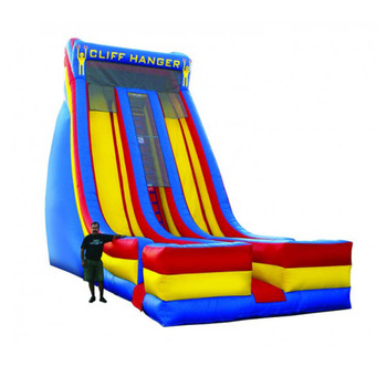 Commercial cliff inflatable slide , giant dry slide for sale