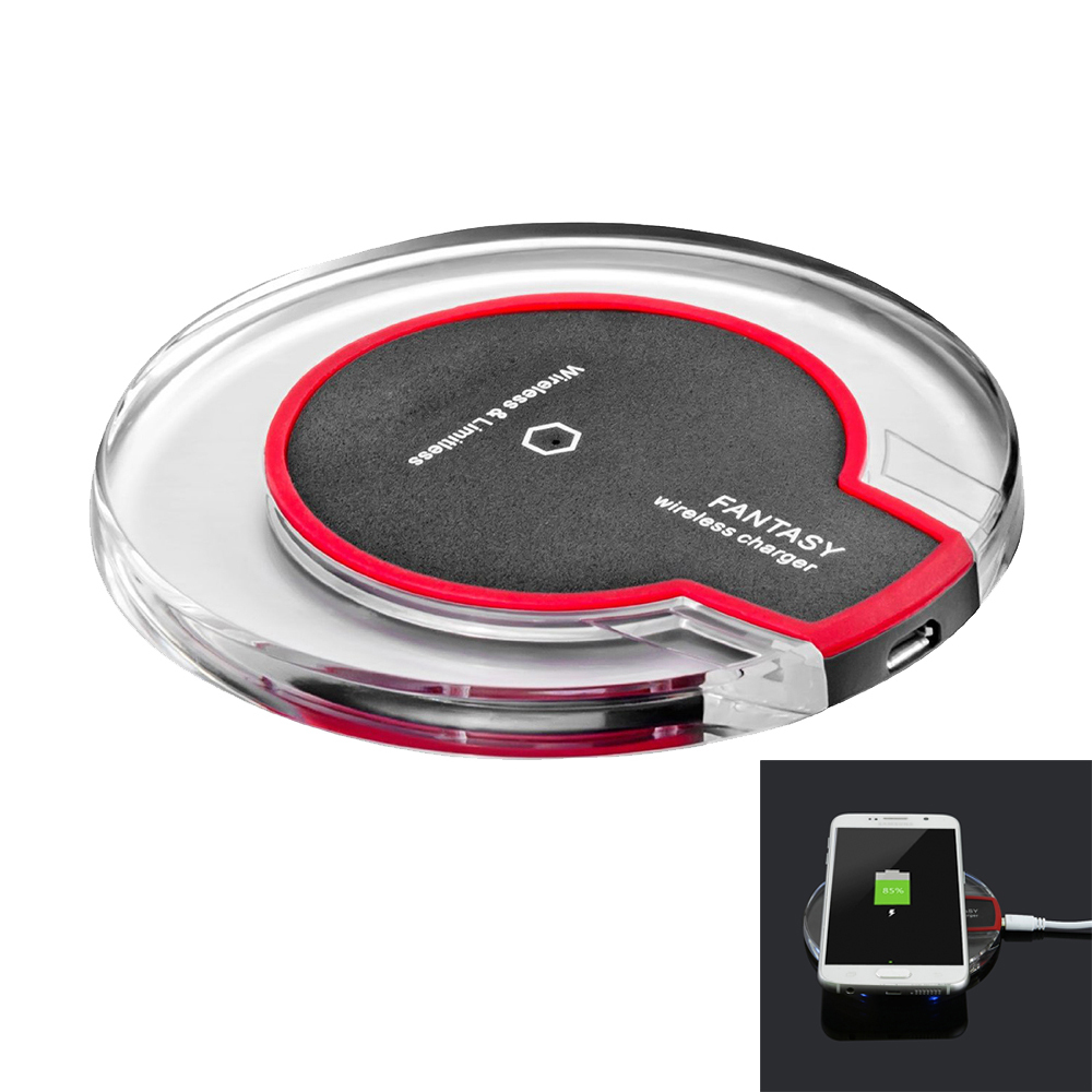 qi wireless charging charger pad qi wireless charger station compatible iphone android phones. Black Bedroom Furniture Sets. Home Design Ideas