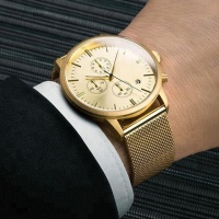 Fashion Chronograph Men Watches Mens Automatic Watch Golden Man Watch With Steel Strap