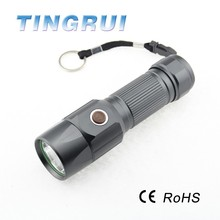 Hot sale RoHS led super ray 200 lumen led flashlight rechargeable