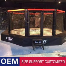 Brand new training boxing ring price elevated octagon mma cage boxing ring with high quality