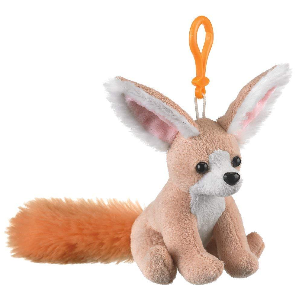 """Fennec Fox Plush Backpack Clip Toy Keychain 5.5"""" Stuffed Fennec Fox, Kids Stuffed Animals"""
