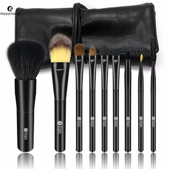 Feiyan Luxury 9pcs black acrylic handle makeup brush set