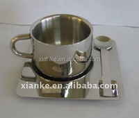 Best selling stainless steel double wall coffee cup set