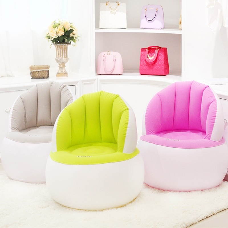 dfc97d6b58bd 2019 Cute Folding Flocking Inflatable Sofa Lazy Sofa Chair Bedroom ...