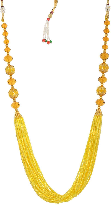 Handicraft Kottage Women's Fashion Jewelry Yellow Metal Necklace (HK-ANYG222)