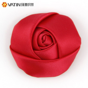 VATIN Wholesale Elegant Design Handmade Large Ribbon Rose Buds For Marriage Decoration