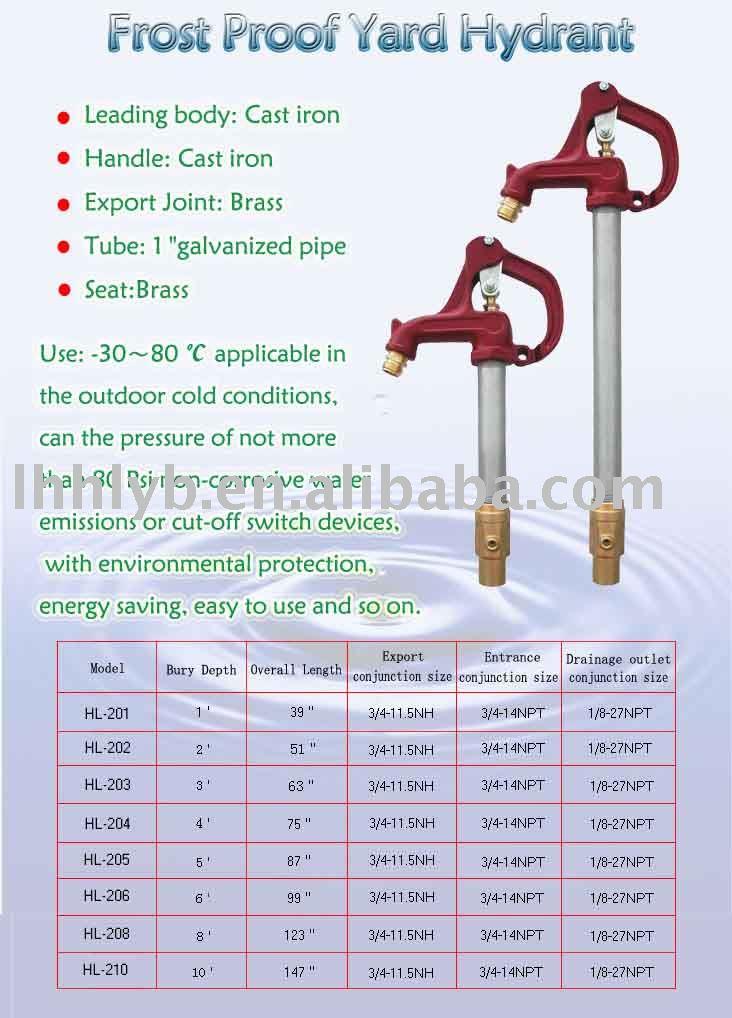 frostsicher hof hydrant anti einfrieren wasserhahn hydrant produkt id 224281102. Black Bedroom Furniture Sets. Home Design Ideas