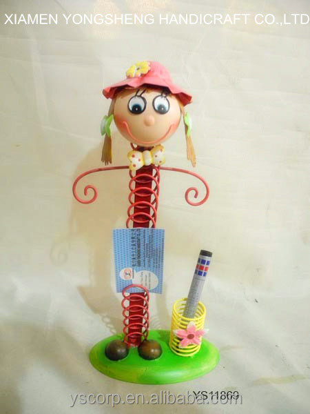 Home decoration pretty metal pencil/pen and name card holder