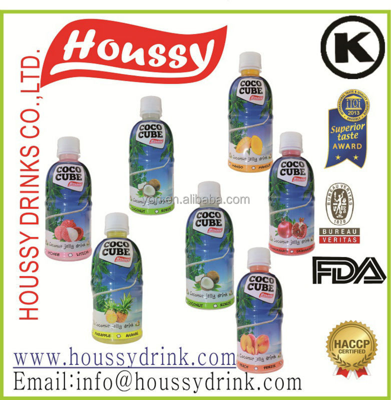 Wholesale products houssy fresh fruit flavored organic coconut drink