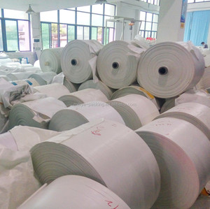 Virgin new material/White woven bag rolls / PP woven tubular fabric for making rice, fertilizer,