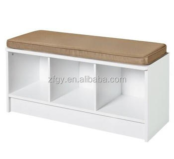 3-cube White Wooden Shoe Storage Bench With Cushion - Buy Shoe Bench,Shoe  Storage Bench,Shoe Bench With Cushion Product on Alibaba com