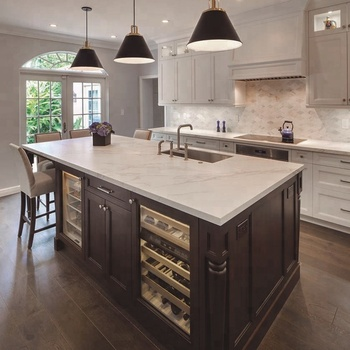 European White Color Kitchen Cabinets Solid Wood