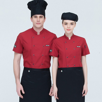 Custom double-breasted sushi chef uniform for cooking kitchen restaurant