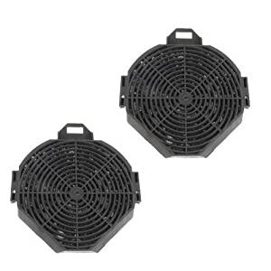Qualtex Cooker Hood Extractor Charcoal Filters Compatible With Cda Ech62, Ech72, Ech92, Ech102 Cha17 Filter X2 Pack Also Fits Matrix & Sia