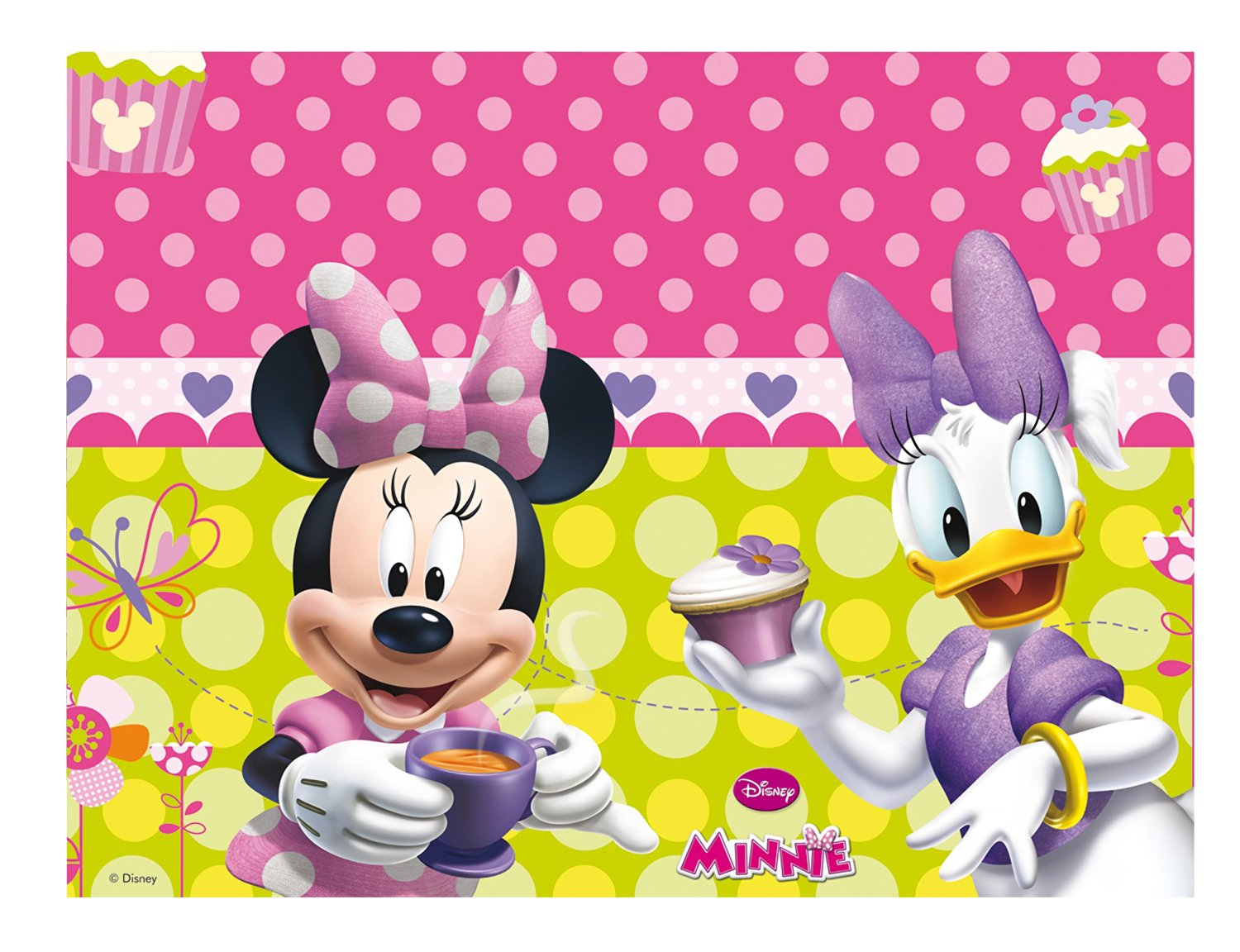 Disney Minnie Mouse Bow-Tique Party Tablecover Plastic