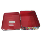 Food packing container custom printing rectangular tin box for cookie candy chocolate gift